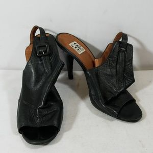 Barney's New York Ankle Strap Open Back Heels 39.5